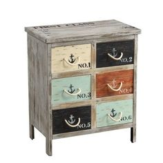 Coast to Coast Imports LLC 6 Drawer Accent Chest