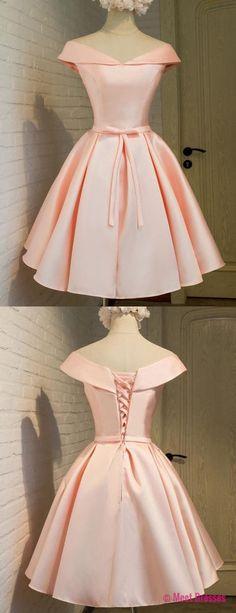 homecoming dresses,blush homecoming dresses,elegant homecoming dresses,Satin homecoming dresses,cheap pink homecoming dresses PD20186887