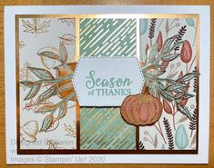 Fall Cards, Holiday Cards, Acorn Crafts, Thanks Card, Stampinup, Specialty Paper, Pretty Designs, Thanksgiving Cards, Paper Design