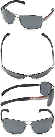 5e0849a96986 Prada Sport PS54IS Sunglasses-5AV 5Z1 Gunmetal (Polarized Gray Lens)-65mm