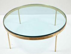 Brass Framed Coffee Table by Nicos Zographos | From a unique collection of antique and modern coffee and cocktail tables at http://www.1stdibs.com/furniture/tables/coffee-tables-cocktail-tables/