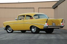 1957 Chevy Yellow Project X Rear Side View