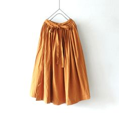 ichi 210407 Linen Cotton Wrap Skirt / 2 COLORS