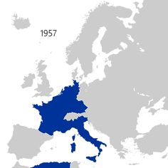 Animated map of European Union, enlargements up to 2013. Color change is from the European Communities to European Union
