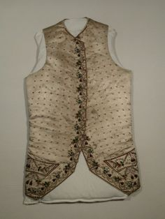 Waistcoat  National Trust Inventory Number 1349011 Date1770 - 1780 CollectionSnowshill Wade Costume Collection, Gloucestershire (Accredited Museum)
