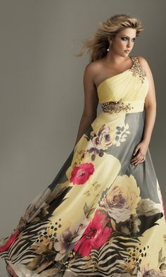 Shop long plus-size prom dresses and strapless gowns in plus sizes at PromGirl. Plus-size dresses for homecoming and plus special occasion gowns. Plus Size Party Dresses, Plus Size Outfits, Curvy Fashion, Plus Size Fashion, One Shoulder Prom Dress, Evening Dresses, Prom Dresses, Dresses 2016, Bridesmaid Dress