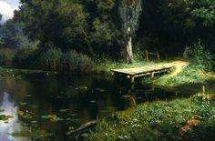 Поленов В.Д. «Заросший пруд», 1879.