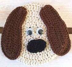 Free Crochet Patterns Critters | Coaster Critter – Dog – Free Crochet Pattern