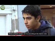 Watch this frightening exchange with a group of young Muslims in Holland. No media will ever conduct interviews such https://youtu.be/8pky3WeM4tI...