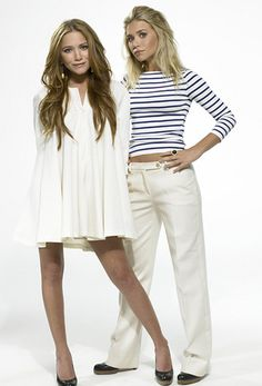 Mary-Kate and Ashley Olsen. They look great here Mary Kate Ashley, Mary Kate Olsen, Olsen Twins Style, Summer Outfits, Cute Outfits, Ashley Olsen, White Fashion, Girl Crushes, Passion For Fashion