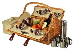 Yorkshire Picnic Basket for 4 w/Coffee $139  reg.$221