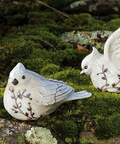 Take a look at this Nature's Promise Bird Statuette Set by Evergreen on #zulily today! $25 !!