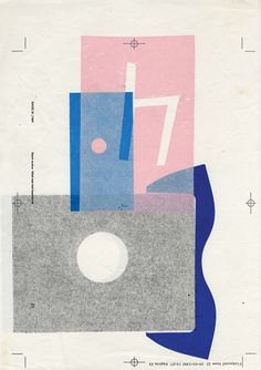print, artwork, colors: muted, subtle, defused, natural, pink, gray, blue.