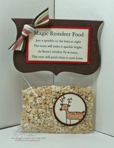 Reindeer food for the kids on Christmas Eve.