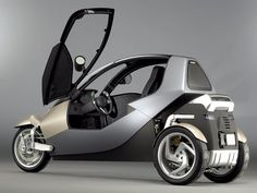 Cool Smart Mini Car Design and Models Three Wheel Motorcycles, 3 Wheel Motorcycle, Kids Motorcycle, Motorcycle Jackets, Motorcycle Helmets, Microcar, Peugeot, Velo Design, E Mobility