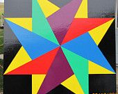 Items similar to Barn Quilt--Twirling Star Pattern 2'x2' on Etsy