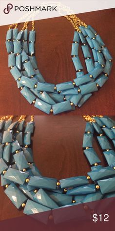 Bright blue statement necklace Make a statement with this bold blue necklace! 🤗 boutique Jewelry Necklaces