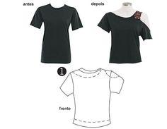 Como Transformar Camisetas <sub> Tutoriales Re-Fashion</sub> - enrHedando Shirt Refashion, T Shirt Diy, Diy Fashion Hacks, Fashion Tips, Shirt Alterations, Umgestaltete Shirts, New Outfits, Fashion Outfits, Altering Clothes