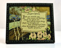 Art Deco Poem Gold Foil Painted Wood Framed Just by #PlumsandHoney  #etsy #tvteam #virtuosoetsy