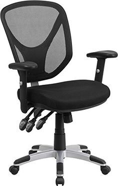 Flash Furniture Mid-Back Mesh Chair with Triple Paddle Control and Height Adjustable Arms, Black           $ 113.53 Office Desk Chairs Product Features Ergonomic Mesh Office Chair Mid-Back Design Built-In Lumbar Support Triple Paddle Control Mechanism It has Back Angle Adjustment Office Desk Chairs Product Description If you're looking for an easy to adjust office chair than this chair by Flash Furniture is perfect for you. The triple paddle mechanisms control […]  http://w..