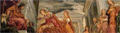 The Queen of Sheba and Solomon - Tintoretto.  c.1555.  Museo del Prado, Madrid, Spain.