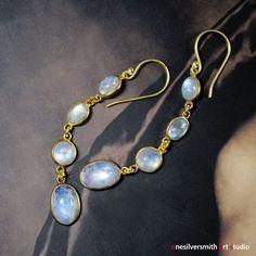 Vermeil Artigiano Vermeil Rainbow Moonstone Drop Earrings-003…