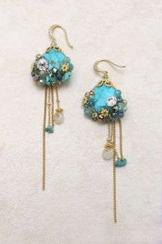 Beautifully Turquoise Earrings on Emma Stine Limited