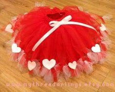 Sweetheart Valentine Tutu 15 years size by MyThreeDarlings on Etsy, $25.00