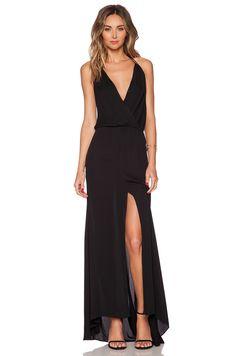 Karina Grimaldi Noah Maxi Dress in Black | REVOLVE