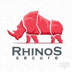 Logo: Rhino Secure - Designer: darvag - #Purchase your #logo in professional www.stocklogos.com/user/rossini