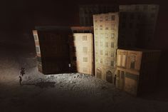 Romoli Francesco's Imaginary Towns | Using Cardboard, Creativity and Photography