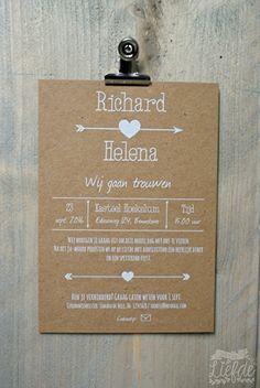 Kraft trouwkaart - Richard & Helena