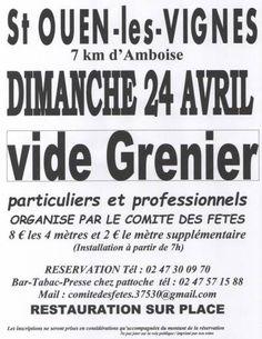 affiche Vide grenier Comité des fêtes