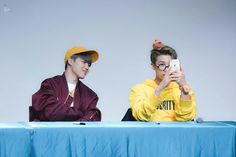 Jimin and Rap Monster! MINJOON! ❤ BTS at the Incheon Fansign #BTS #방탄소년단