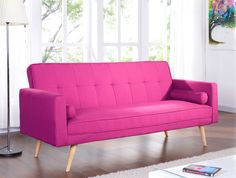 New Sofabed Fabric 3 Seater Padded Sofa Bed Suite Designer Cushions Colourful