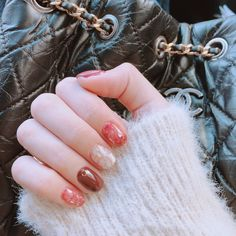 Super Nails Design Acrylic Tips Beauty Ideas Korean Nail Art, Korean Nails, Asian Nail Art, Acrylic Nail Designs, Nail Art Designs, Nails Design, Acrylic Tips, Red Nails, Hair And Nails