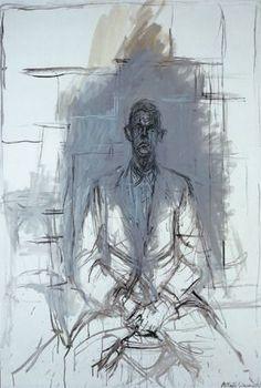 James Lord by Alberto Giacommeti