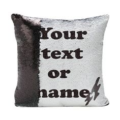 MERMAID pillow reversible SEQUINS cushion cover personalised