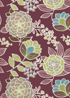 Sulu Wallpaper from Thibaut - Plum