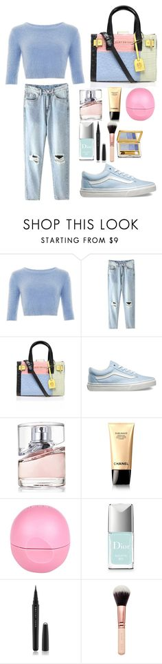 """""""Simple, Simple"""" by fashionistawonderland ❤ liked on Polyvore featuring beauty, Kurt Geiger, Vans, HUGO, Chanel, River Island, Christian Dior, Marc Jacobs and Estée Lauder"""