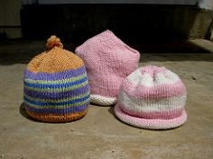 Baby Hats pattern by Kathy Perron