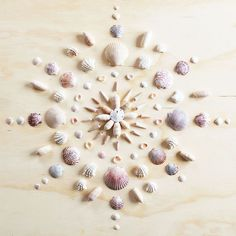 Print of original mandala design by Vicki Rawlins Original mandala design made completely of collected shells from the shores of the Atlantic A mandala is commonly known as a spiritual symbol represen