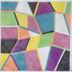 Sally Corey Bahama hand stitch-painted needlepoint canvas