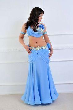 Sky blue costume
