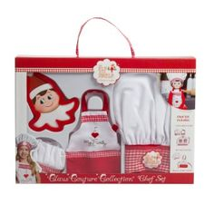 Amazon.com: Elf on the Shelf Claus Couture Collection Chef Apron Set: Toys & Games
