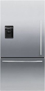 Fisher & Paykel RF170WDLUX5 31 Inch Bottom-Freezer Refrigerator with 17.0 cu. ft. Capacity, 4 Adjustable Glass Shelves, Gallon Door Storage, ActiveSmart Technology, Independent Temperature Control, SmartTouch Control Panel, ENERGY STAR and Ice and Water Dispenser: Left Hand Hinge