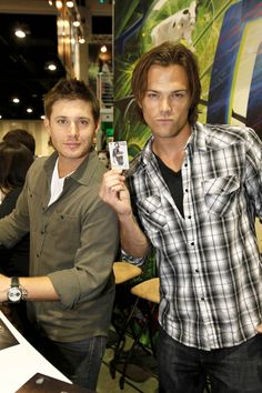 "Jensen Ackles and Jared Padalecki ""blue steel"" at Comic-Con 2010 #supernatural"