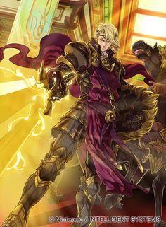 "micaiahsthani: "" Fire Emblem 0 (Cipher) Paladin Xander by Rika Suzuki """