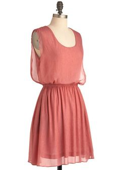Simple Solution Dress in Rose-- Adorable and simple. And it would look great belted.