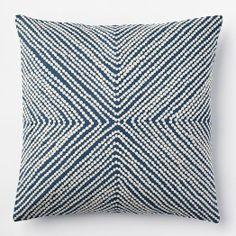 Diamond Dot Crewel Pillow Cover - Blue Lagoon | west elm $39 {Marian}